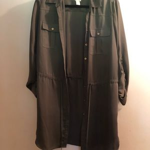 Chico's Olive Green Cargo Blouse Size 1